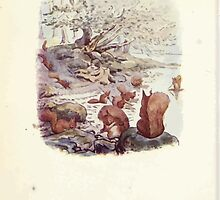 The Tale of Squirrel Nutkin Beatrix Potter 1903 0014 Nutkin and Twinkleberry at the Lake's Edge by wetdryvac
