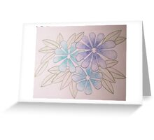 Blue template Greeting Card