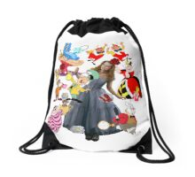 Alice In Wonderland Drawstring Bag