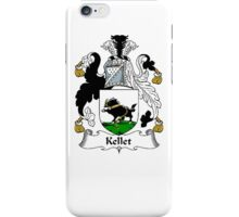 Coat of arms (family crest) for last-name or surname Kellet . Heraldry banner for your name. iPhone Case/Skin