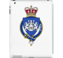 Coat of arms (family crest) for last-name or surname Kelly (Ireland) . Heraldry banner for your name. iPad Case/Skin