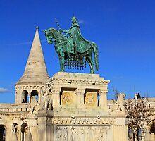 Statue of King St. Stephen on Horseback by Mariann Kovats
