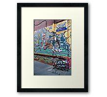 Rankins Lane, Melbourne Framed Print