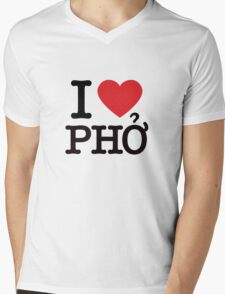 I Love Pho Mens V-Neck T-Shirt