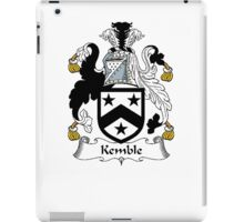 Coat of arms (family crest) for last-name or surname Kemble . Heraldry banner for your name. iPad Case/Skin