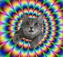 cat psychedelic by devonmateau
