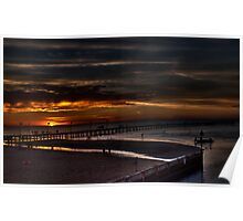 Frankston Pier Sunset (HDR) Poster