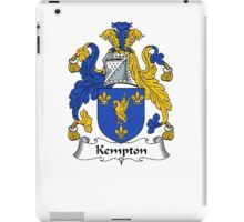 Coat of arms (family crest) for last-name or surname Kempton . Heraldry banner for your name. iPad Case/Skin
