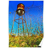 Water Tower Study Two Poster