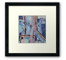 Blue transposal Framed Print