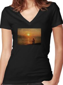 My Brilliant Image Women's Fitted V-Neck T-Shirt
