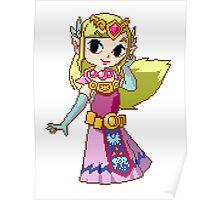 Zelda - pixel art Poster