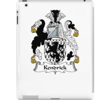 Coat of arms (family crest) for last-name or surname Kendrick . Heraldry banner for your name. iPad Case/Skin