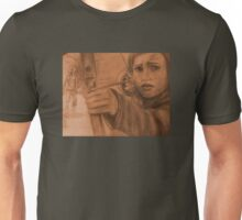 Ellie in Winter - Sepia Unisex T-Shirt