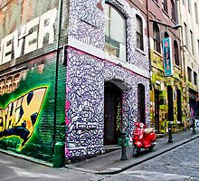 Hosier and Rutledge Lanes, Melbourne by Nicole a Alley