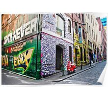 Hosier and Rutledge Lanes, Melbourne Poster