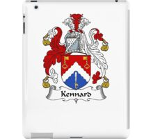 Coat of arms (family crest) for last-name or surname Kennard . Heraldry banner for your name. iPad Case/Skin