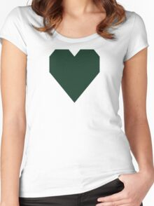 Phthalo Green  Women's Fitted Scoop T-Shirt
