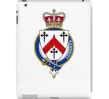 Coat of arms (family crest) for last-name or surname Kennedy (Scotland) . Heraldry banner for your name. iPad Case/Skin