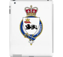 Coat of arms (family crest) for last-name or surname Kennelly (Ireland) . Heraldry banner for your name. iPad Case/Skin