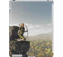 Blonde Female Elf Archer above the Forest iPad Case/Skin