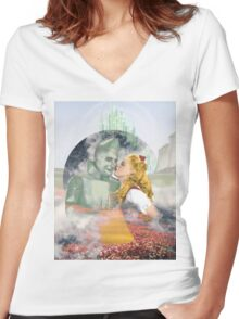 Emerald City of Love Women's Fitted V-Neck T-Shirt