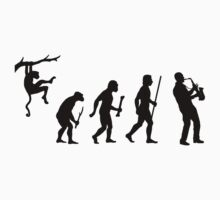 Evolution of Man and Saxophone by DesignMC