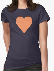 Pink Orange Womens Fitted T-Shirt