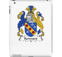 Coat of arms (family crest) for last-name or surname Kenward . Heraldry banner for your name. iPad Case/Skin