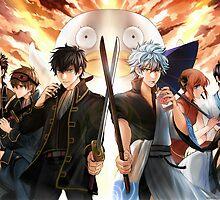 Gintama - Yorozuya & Shinsengumi by shumijin