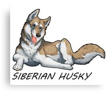 Husky love - Tan Canvas Print