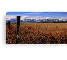 Prairie to Peak Canvas Print
