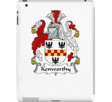 Coat of arms (family crest) for last-name or surname Kenworthy . Heraldry banner for your name. iPad Case/Skin