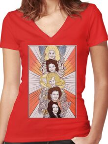 Totems V.1: Women of Country Music Women's Fitted V-Neck T-Shirt