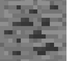 Minecraft coal - pixel art by galegshop