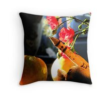 Afternoon Bench Throw Pillow