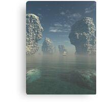 Sailing Ship and Giant Sea Stacks Canvas Print