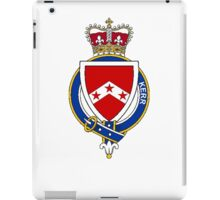 Coat of arms (family crest) for last-name or surname Kerr (Scotland) . Heraldry banner for your name. iPad Case/Skin