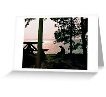 Lake Golden Greeting Card