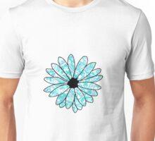 Blue and White Flower Unisex T-Shirt