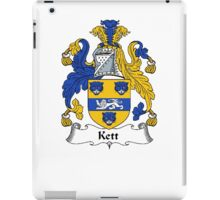 Coat of arms (family crest) for last-name or surname Kett . Heraldry banner for your name. iPad Case/Skin