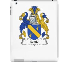Coat of arms (family crest) for last-name or surname Kettle . Heraldry banner for your name. iPad Case/Skin