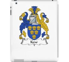 Coat of arms (family crest) for last-name or surname Kew . Heraldry banner for your name. iPad Case/Skin
