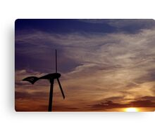 Dawn of renewable energy. Canvas Print