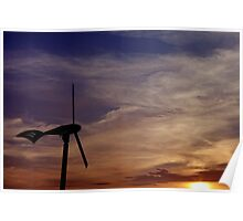 Dawn of renewable energy. Poster