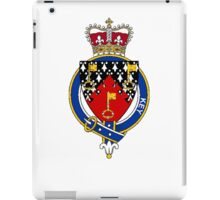 Coat of arms (family crest) for last-name or surname Key or Keyes (England) . Heraldry banner for your name. iPad Case/Skin