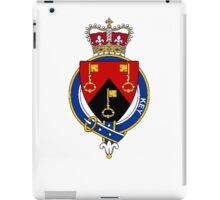 Coat of arms (family crest) for last-name or surname Key or Keyes (Ireland) . Heraldry banner for your name. iPad Case/Skin