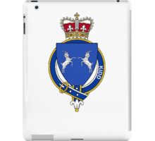 Coat of arms (family crest) for last-name or surname Kidd (England) . Heraldry banner for your name. iPad Case/Skin