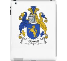 Coat of arms (family crest) for last-name or surname Kidwell (Wales) . Heraldry banner for your name. iPad Case/Skin