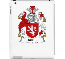 Coat of arms (family crest) for last-name or surname Kiffin . Heraldry banner for your name. iPad Case/Skin